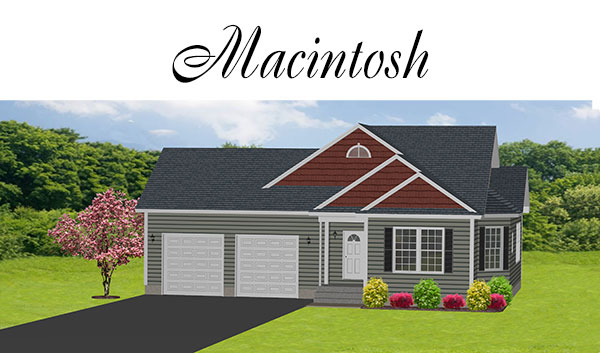 Macintosh style custom home from Apple Valley Estates