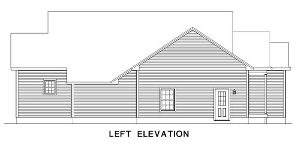 Macintosh Custom Home Left Elevation